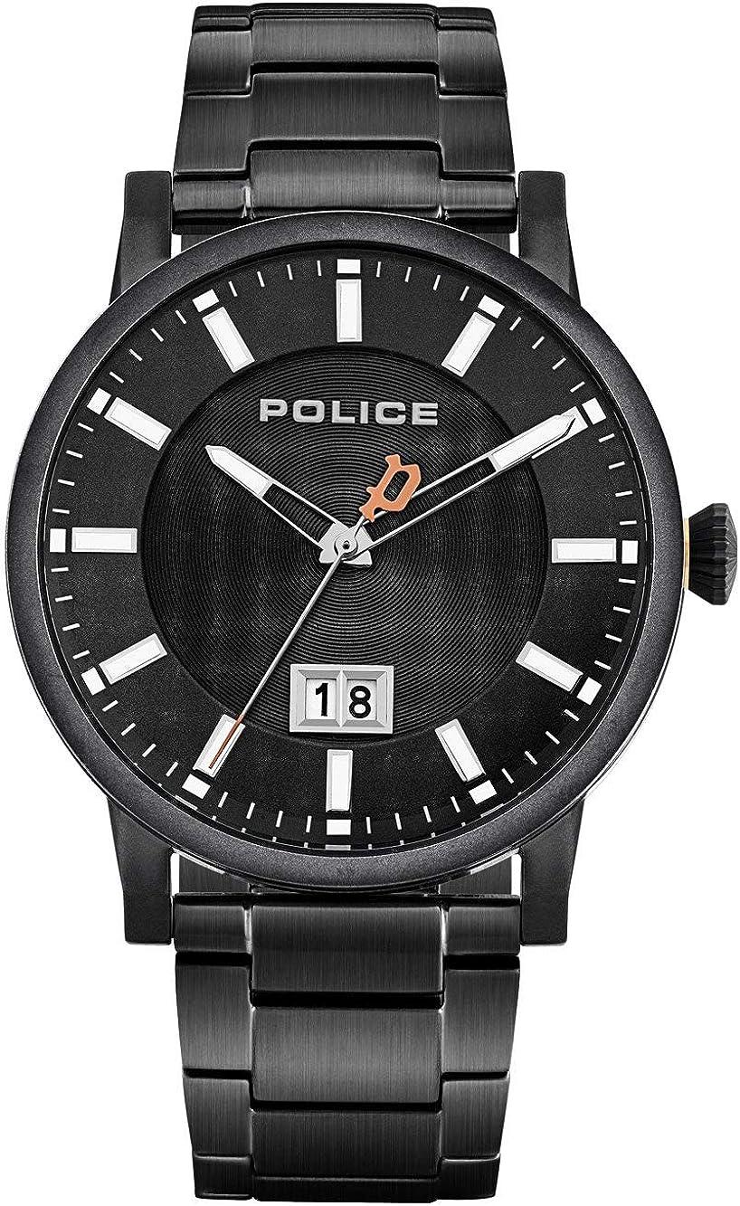 Police Reloj Analógico para Unisex Adultos de Cuarzo con Correa en Acero Inoxidable PL15404JSB.02M