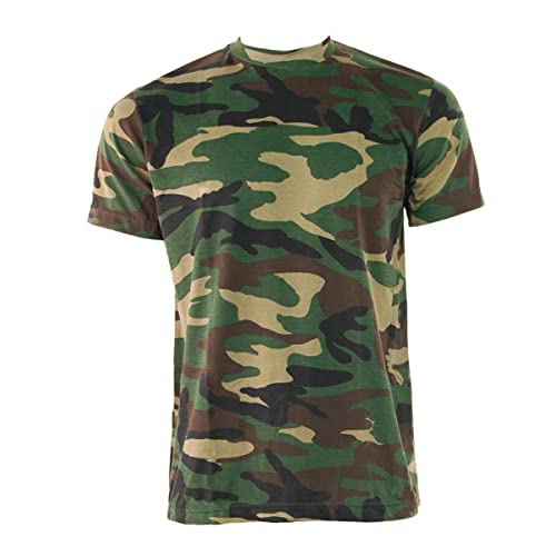 a84608e0 Mens GAME Camouflage Short Sleeve Crew Neck T Shirt