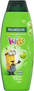 Palmolive Kids 3 in 1 Hypoallergenic Hair Shampoo, Conditioner & Body Wash Minions Happy Apple Detangles Hair 350mL