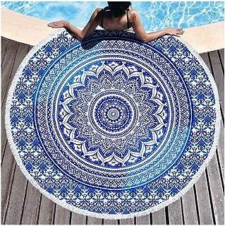 JUNYZSTJ Bohemian Mandal Round Beach Towel Round Towel Microfiber Towel Beach Towels for Adult Home Yoga