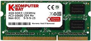 Komputerbay KB_4GBDDR3_SO1333_1 - Módulo de memoria RAM SODIMM de 4GB (9-9-9-25) DDR3 (204 pines) 1333Mhz PC3 10600