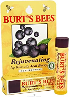 Burt's Bees Lip Balm, Rejuvenating, with Acai Berry, 0.15 Oz / 4.25 G (Pack of 4)