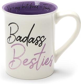 Enesco Our Name Is Mud Bad Besties Stoneware Mug, 16 oz, Purple
