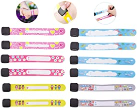 Child Safety ID Wristband, 12pcs Reusable&Waterproof Safety ID Bracelets for Kids Anti-Lost Child Travel ID Bands for Chil...