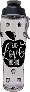 50 Strong Teacher Water Bottle - BPA Free for Teachers - Give Bottles As Thank You Gifts - Show Appreciation for Teachers - Easy Carry Loop - Made in USA
