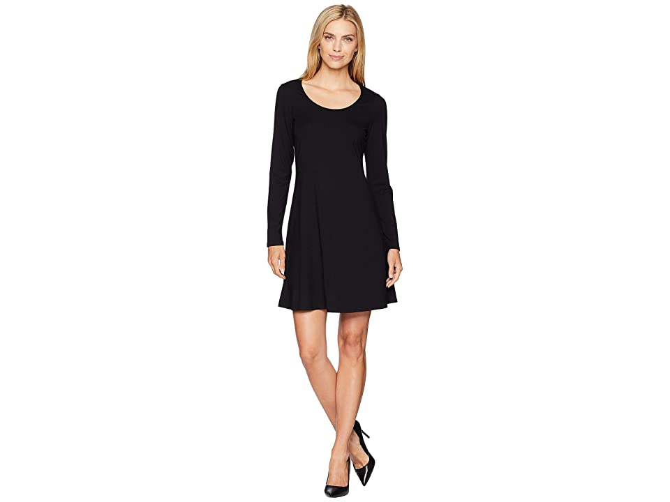 Karen Kane Erin A-Line Dress (Black) Women
