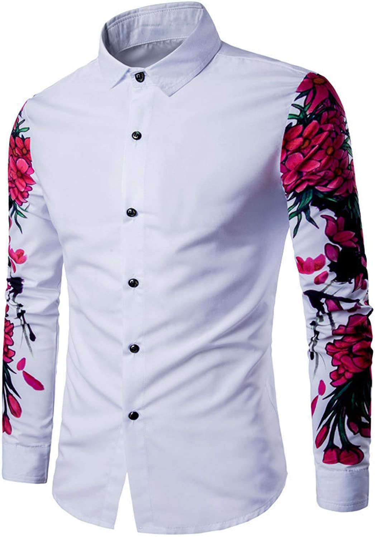Camisa de Manga Larga con Estampado Digital para Hombres de ...