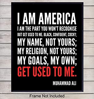 Muhammad Ali Quote Wall Art, Home Decor - African American Poster, Print - Gift for Civil Rights, Black Power, Black Lives Matter Fans - Unique Room Decorations for Office, Bedroom, Living Room, 8x10