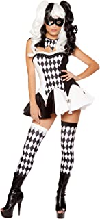 black and white womens jester costume