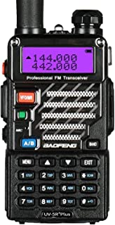 BaoFeng UV-5R Plus Dual-Band 136-174/400-480 MHz FM Ham Two-Way Radio (Black)
