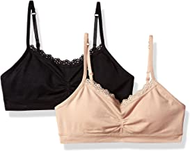 Fruit of the Loom Seamless Bralette with Lace(Pack of 2) Bra