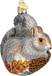 Old World Christmas Ornaments: Wildlife Animals Glass Blown Ornaments for Christmas Tree, Hungry Squirrel