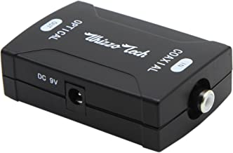 Whizzotech Coaxial to Toslink Optical Digital Audio Converter 24bit/192K HD Sampling