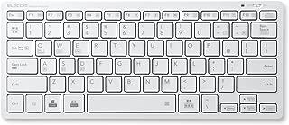 エレコム キーボード Bluetooth パンタグラフ ミニキーボード Windows・Mac・iOS・Android対応 【軽量モデル】 ホワイト TK-FBP102XWH
