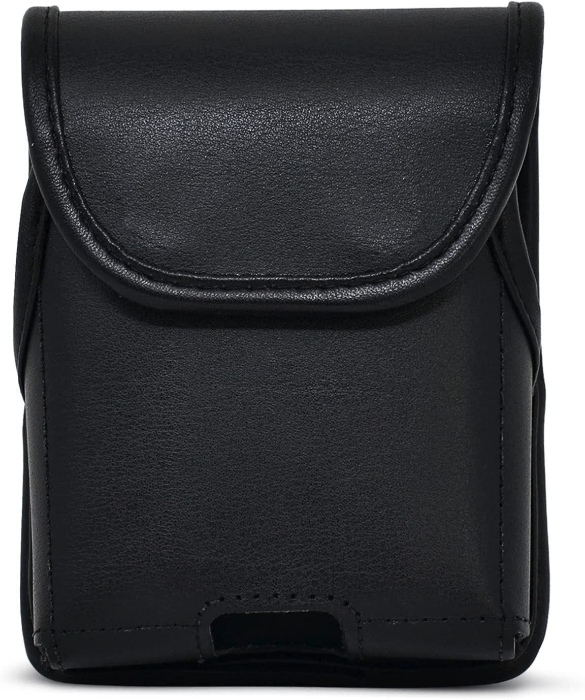 Turtleback Belt Case Designed for Samsung Galaxy Z Flip3 (2021) 5G Vertical Holster Black Leather Pouch with Heavy Duty Rotating Belt Clip, Made in USA