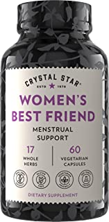 Crystal Star Women's Best Friend (60 capsules) - Herbal Menstrual Relief Supplement for help with Cramps, Minor Pains & Bl...