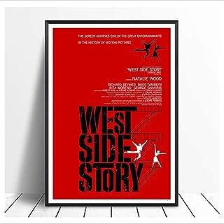 JLFDHR Canvas muur kunst 15.7x23.6 inch geen frame Originele West Side Story (1961) Vintage Klassieke Film Poster Home Dec...