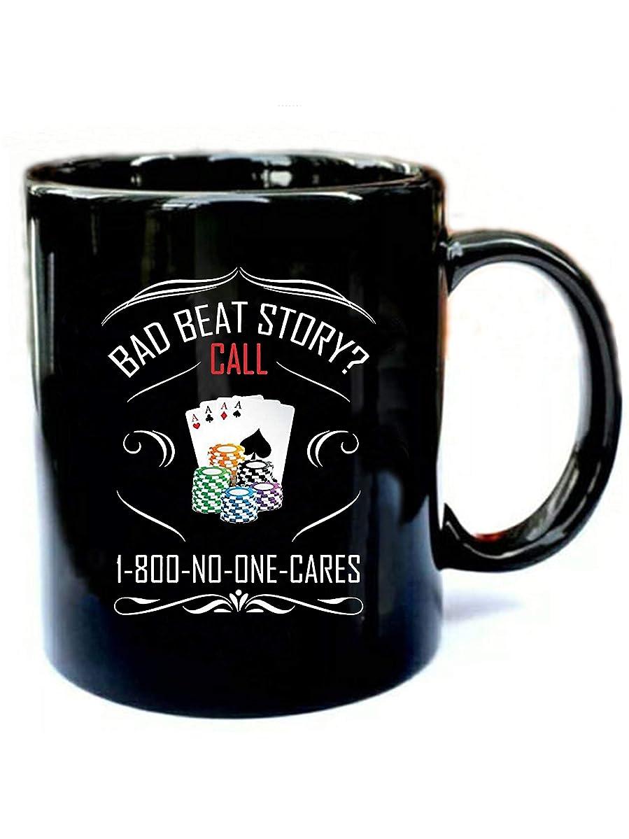 Funny Poker - Funny Gift Black 11oz Ceramic Coffee Mug