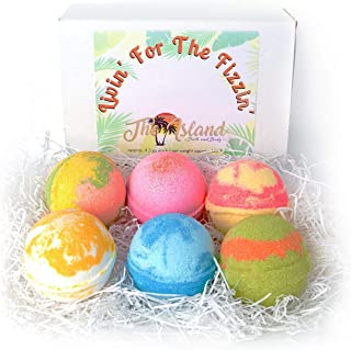 6 Large Bath Bomb Gift Set with Shea & Cocoa Butters- BEST GIFT YEAR ROUND- MADE IN THE USA
