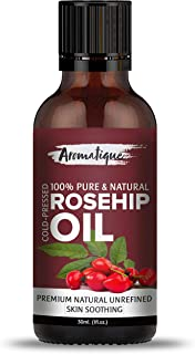 Aromatique Rosehip Seed Oil 100% Pure & Natural Cold pressed ,Therapeutic Grade Oil From Aromatique 30ml