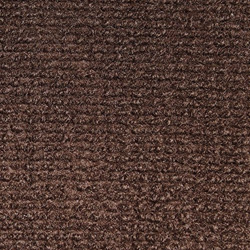 House, Home and More Indoor Outdoor Carpet with Rubber Marine Backing - Dark Brown - 6 Feet x 10 Feet
