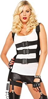 Women's SWAT Body Harness with Garter iPhone Holder and Walkie Talkie Cord Costume Accessory