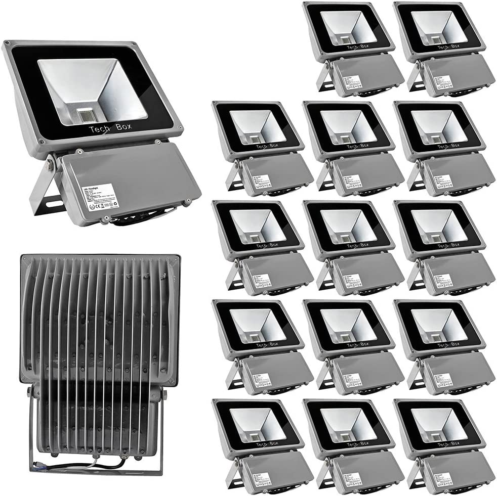 * Super Qualität insgesamt 16 Farben *10W/20W/30W/50W/100W LED RGB Strahler Fluter Licht Flutlicht IP65/CE Spot Scheinwerfer mit Fernbedienung Farbwechsel Wandstrahler Außenstrahler(Lichtfarbe:Rot, Gr 100w