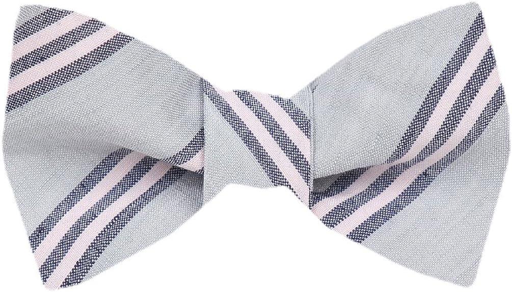 FBTZ-1294 - Men's Silk Self Tie Bowtie Tie Yourself Bow Ties