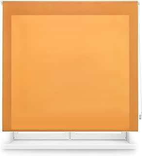 Blindecor Ara Estor enrollable translúcido liso, Naranja, 100 X 250 Cm