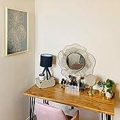 Amazon Com Stratton Home Decor S01681 Stella Wall Mirror 28 25 W X 2 50 D X 28 25 H Gold Home Kitchen