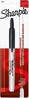 Sharpie Retractable Permanent Marker, Fine Point, Black, 1 Count