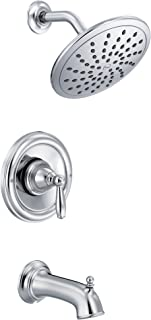 Moen T2253EP Brantford Posi-Temp Tub and Shower Trim Kit with 8-Inch Eco-Performance Rainshower, Valve Required, Chrome