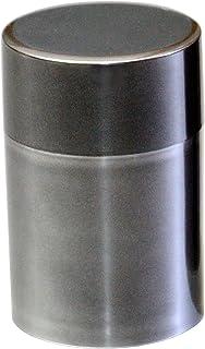 北市漆器店 メタリック茶筒スリム(シルバー) 100g KZ2928