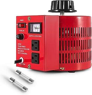 20Amp Variable Transformer - Auto AC Voltage Converter Transformer Regulator for 2000VA Max Power Supply, 0~130 Volt Output