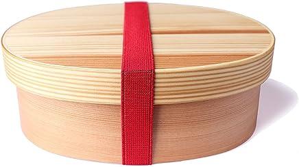 Legno Tradizionale Giapponese Bento Sushi Lunch Box Double Layer Contenitori per Il Pranzo in Legno Contenitore per Alimenti Portatile RecoverLOVE Pranzo in Legno Bento