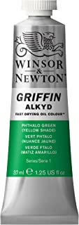 Winsor & Newton Griffin Alkyd Fast Drying Oil Colour Paint, 37ml tube, Phthalo Green (Yellow Shade)