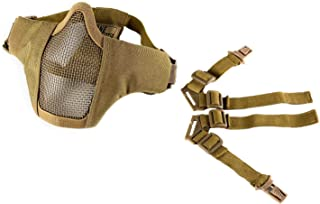 "OneTigris 6"" Foldable Half Face Mesh Mask Military Style Comfortable Adjustable.."