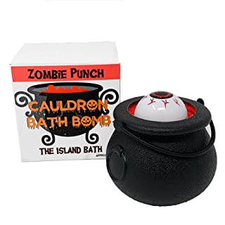 Halloween Cauldron Bath Bombs - ZOMBIE PUNCH - Fizzes and Bubbles Bath Bombs with Scary Toys For Kids! Halloween Gift! (Zombie Punch)