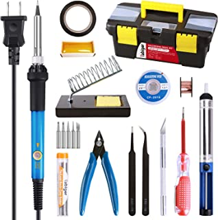 Soldering Iron Kit Electronics, 20-in-1, 60W Adjustable Temperature Soldering Iron