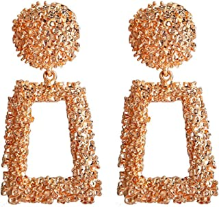 Gold Tone Yellow Royal Journey Jewelry Eternity Earring, New Earrings Wish Creative Exaggerated Punk Wind Geometric Color Earrings Women