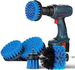 SAFETYON Cepillo de Taladro Eléctrico 4 Pieces Multifuncional Brocha para Limpiar Baño, Piso, Azulejo, Esquinas, Cocina (A...