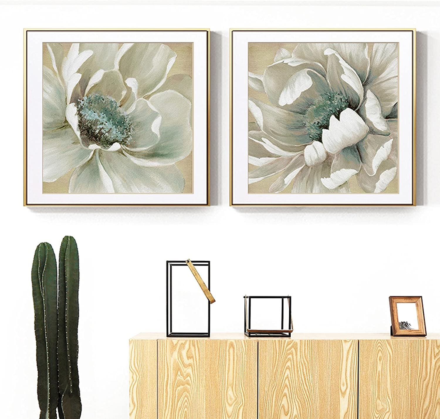 Sunsightly Print on Canvas Quality inspection Nashville-Davidson Mall Abstract Pain Big White Flower