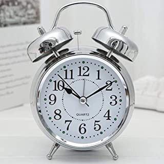 Chillyfit Alarm Clocks, Vintage Look Twin Bell Table Clock for Heavy Sleepers, Bedroom, Students, Home, Kids, Wind-Up Loud...