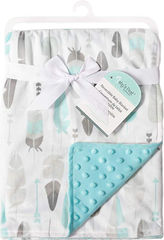 Baby S First By Nemcor Blanket Decorative Feathers