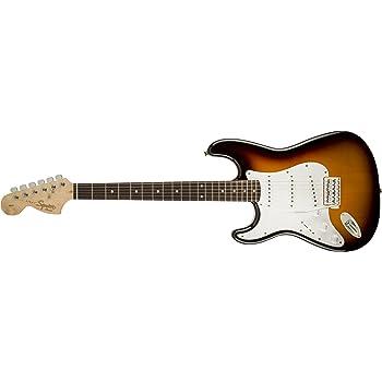 Squier by Fender Affinity Series Stratocaster Electric Guitar - Laurel Fingerboard - Brown Sunburst - LH