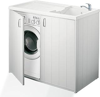 Negrari 6008s Meuble de machine à laver réversible en résine Blanc 109x 60x 94cm