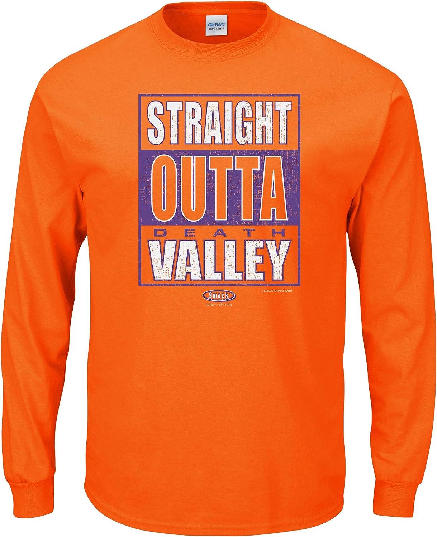Clemson Football Fans. Straight Outta Clemson. orange Long Sleeve T Shirt (Sm5X)