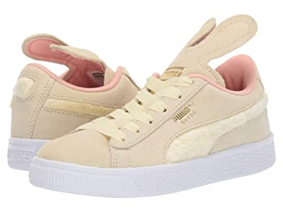 Puma Kids Suede Bunny Slip-On (Little Kid) (Tender Yellow/Coral Cloud/Puma Team Gold) Girls Shoes