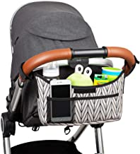 Universal Stroller Organizer with Cup Holders - Versatile, Extra Storage, Secured Fit, Hidden Mesh Bag - Universal Stroller Accessories Fits All Strollers