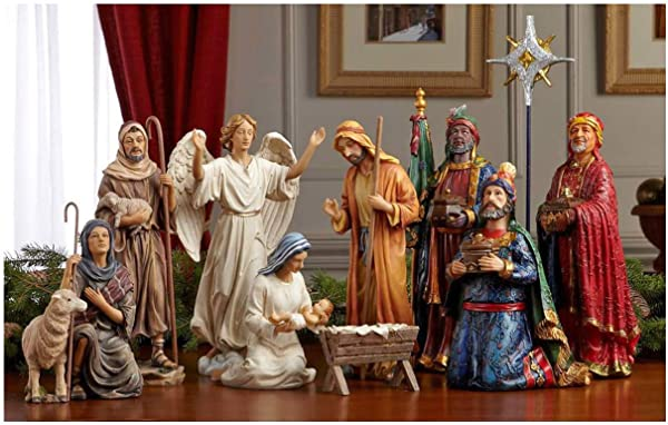 Three Kings Gifts Real Life Christmas Nativity Set 14 Inch
